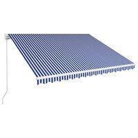 vidaXL Ročno zložljiva tenda 400x300 cm modra in bela