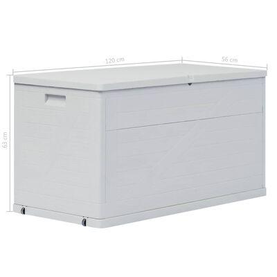 vidaXL Vrtna škatla za shranjevanje 420 L svetlo siva