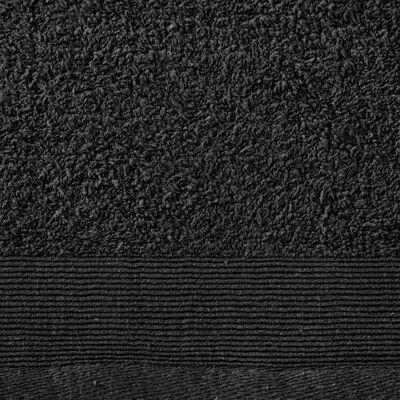 vidaXL Brisače za roke 5 kosov bombaž 450 gsm 50x100 cm črne