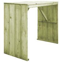 vidaXL Barska miza 130x60x110 cm impregnirana borovina