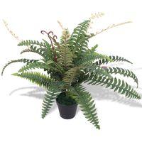 vidaXL Umetna rastlina praprot v loncu 60 cm zelene barve