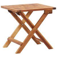 vidaXL Zložljiva vrtna klubska mizica 40x40x40 cm trden akacijev les