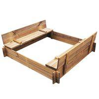 vidaXL Peskovnik iz impregniranega lesa kvadraten