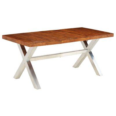 vidaXL Jedilna miza trden akacijev les s palisandrom 180x90x76 cm