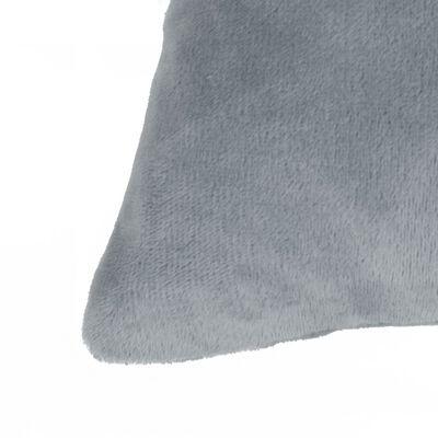 vidaXL Komplet blazin 2 kosa žamet 45x45 cm sive barve