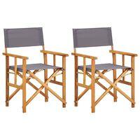 vidaXL Režiserski stol 2 kosa trden akacijev les
