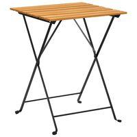 vidaXL Bistro miza 55x54x71 cm trden akacijev les