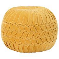 vidaXL Tabure iz bombažnega žameta vezeni dizajn 40x30 cm rumen