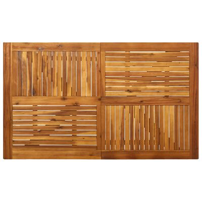 vidaXL Vrtna jedilna garnitura 5-delna trden akacijev les