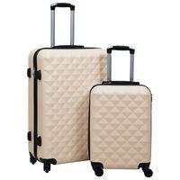 vidaXL Trdi potovalni kovčki 2 kosa zlati ABS