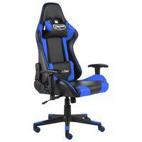 vidaXL Vrtljiv gaming stol moder PVC