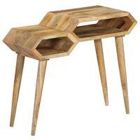 vidaXL Konzolna mizica iz trdnega mangovega lesa 90x35x76 cm