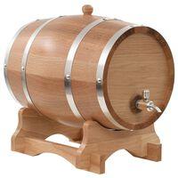vidaXL Sod za vino s pipo trdna hrastovina 12 L