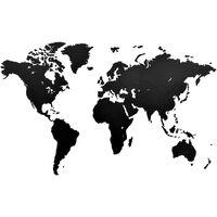 MiMi Innovations Lesen zemljevid sveta Luxury črn 130x78 cm