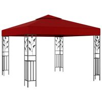 vidaXL Paviljon 3x3 m vinsko rdeč