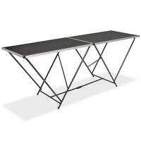 vidaXL Zložljiva tapetniška miza MDF in aluminij 200x60x78 cm