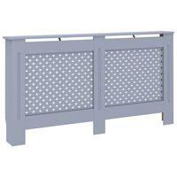 vidaXL Pokrov za radiator antraciten 152x19x81 cm mediapan