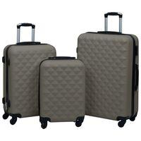 vidaXL Trdi potovalni kovčki 3 kosi antracitni ABS