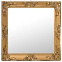 vidaXL Stensko ogledalo v baročnem stilu 60x60 cm zlato