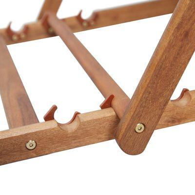 vidaXL Zložljiv stol za na plažo blago in lesen okvir modre barve