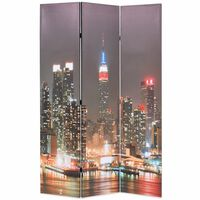 vidaXL Zložljiv paravan 120x170 cm New York ponoči