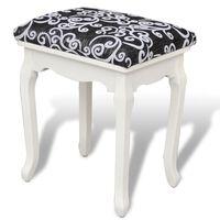 vidaXL Garderobni stolček črno blago