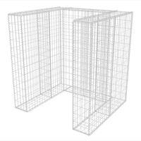 vidaXL Gabion enojna ograda za koš za smeti jeklo 110x100x120 cm