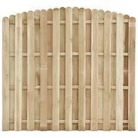 vidaXL Ograjni panel impregnirana borovina 180x(155-170) cm