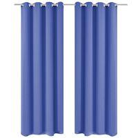 vidaXL Zatemnitvene zavese 2 kosa z obročki 135x245 cm modre barve