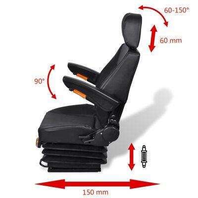 vidaXL Sedež za traktor z vzmetenjem