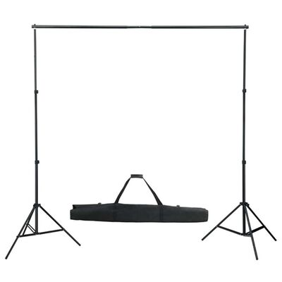vidaXL Komplet za fotografski studio z ozadjem, svetilkami in dežniki