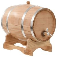 vidaXL Sod za vino s pipo trdna borovina 12 L