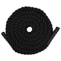 vidaXL Vadbena vrv 12 m poliester črna