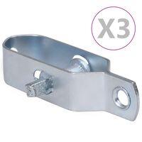 vidaXL Napenjalci žice 3 kosov 100 mm jeklo srebrne barve