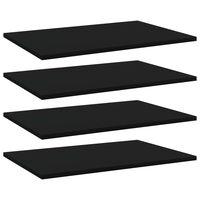 vidaXL Dodatne police za omaro 4 kosi črne 60x40x1,5 cm iverna plošča