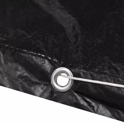 Zaščitna prevleka za vrtno pohištvo 10 obročkov 260 x 260 x 90 cm