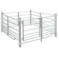 vidaXL 4 delna ograda za ovce iz pocinkanega jekla 137 x 137 x 92 cm