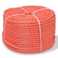 vidaXL Zvita vrv polipropilen 6 mm 200 m oranžna