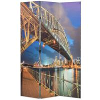vidaXL Zložljiv paravan 120x170 cm Sydneyski pristaniški most