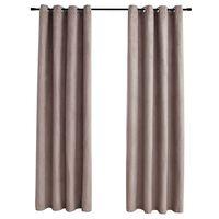 vidaXL Zatemnitvene zavese s kovinskimi obročki 2 kosa taupe 140x175cm