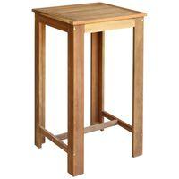 vidaXL Barska mizica trden akacijev les 60x60x105 cm