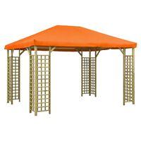 vidaXL Paviljon 4x3 m oranžen