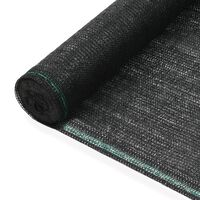 vidaXL Teniška zaščitna mreža HDPE 1,4x100 m črna