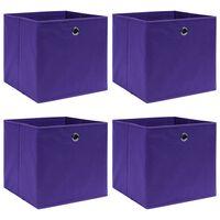 vidaXL Škatle za shranjevanje 4 kosi vijolične 32x32x32 cm blago