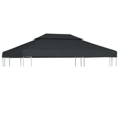 vidaXL Streha za paviljon 2-delna 310 g/m² 4x3 m antracitna