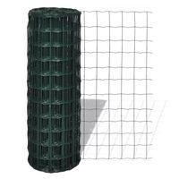 vidaXL Evro ograja iz jekla 25 x 1,2 m zelena