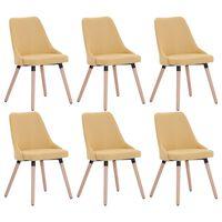 vidaXL Jedilni stoli 6 kosov rumeno blago