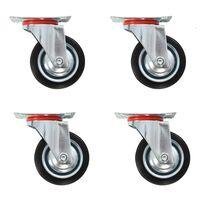 vidaXL Gibljiva kolesa 4 kosi 75 mm