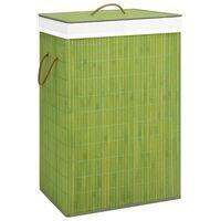 vidaXL Košara za perilo iz bambusa zelena 72 L