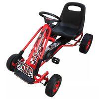 Rdeči Go Kart na pedala z nastavljiv sedežem